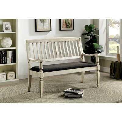 Lyon Slat-back Upholstered Bench - Birch Lane