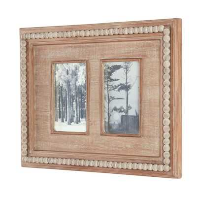 Home Decorators Collection 4 in. x 6 in. Natural Beaded Wood 2-Opening Picture Frame, Brown - Home Depot