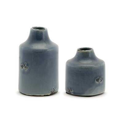 6 Piece Gray Terracotta Table Vase Set - Wayfair