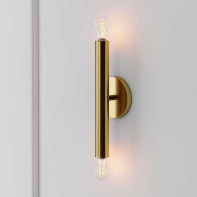 Trace Sconce, Single, Antique Brass - West Elm