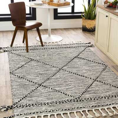 Alberty Southwestern Hand- Loomed Cotton Gray Area Rug - Wayfair