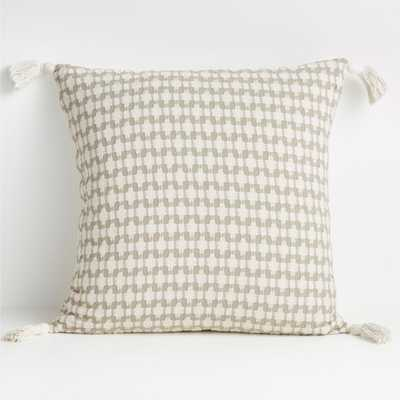 "Tahona 23"" White Swan Textured Pillow with Feather-Down Insert - Crate and Barrel"