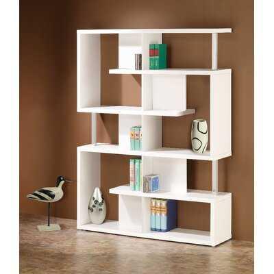 "Thissell 63.25"" H x 47.25"" W Geometric Bookcase - Wayfair"