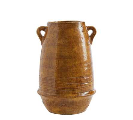 Holloway Handcrafted Terra Cotta Vase, Amber - Medium - Pottery Barn