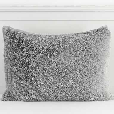 Super Fluffy Sham, Standard, Stone Gray - Pottery Barn Teen
