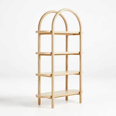 Dolly Natural Tall Bookcase - Crate and Barrel