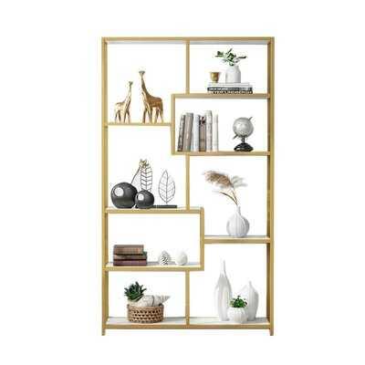 "Maurer 70.86"" H x 39.37"" W Metal Geometric Bookcase - Wayfair"