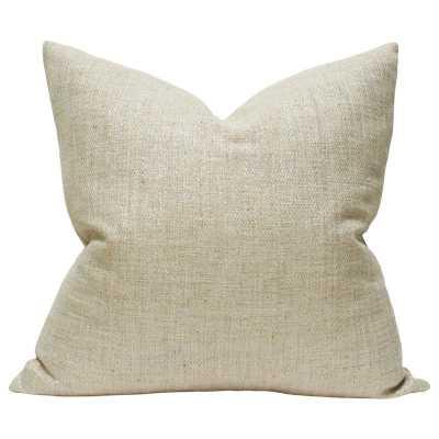 Shimmer Beige & Gold - 13x19 pillow cover - Arianna Belle