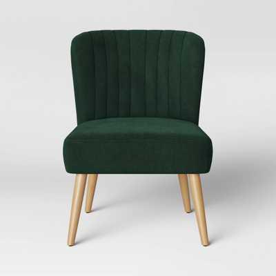 Chelidon Velvet Slipper Chair Green - Opalhouse , Size: Assembly Required - Online Only - Target