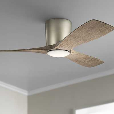 "48"" Kichler Volos Brushed Nickel Hugger LED Ceiling Fan - Style # 74A90 - Lamps Plus"