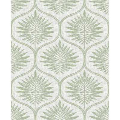 Brewster Wallcovering Green Primitive Leaves Peel and stick wallpaper 8 in. x 10 in. Sample - Home Depot