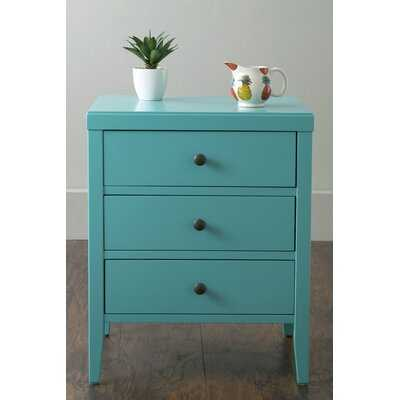 Rushville 3 Drawer Nightstand - Wayfair