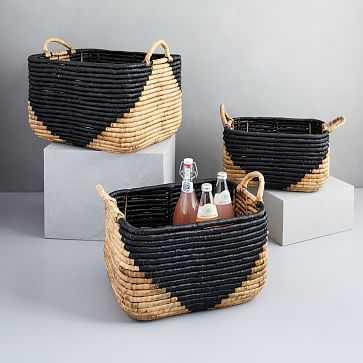 Woven Seagrass Log Basket, Set of 3 - West Elm