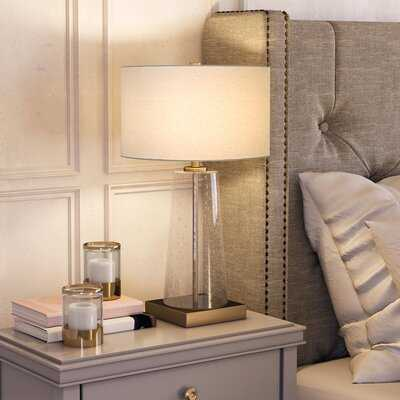 """Cohen Tapered Seeded Glass 25"""" Table Lamp - Birch Lane"""
