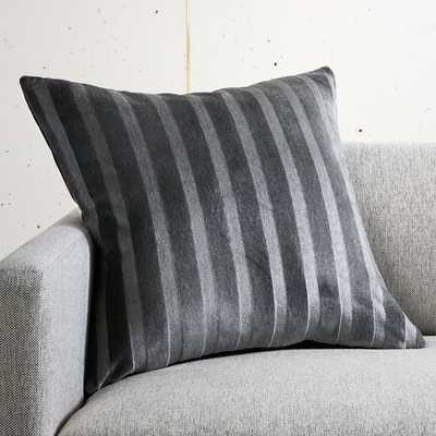 """20"""" Rivata Grey Pillow with Feather-Down Insert - CB2"""