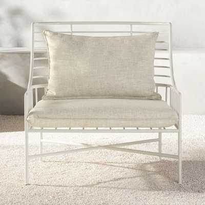 Breton White Metal Chair - CB2