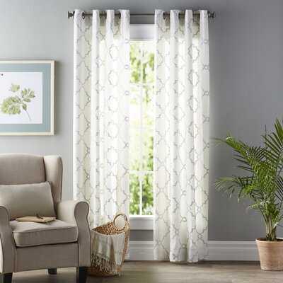 Wilburton Geometric Semi-Sheer Grommet Curtain - Birch Lane