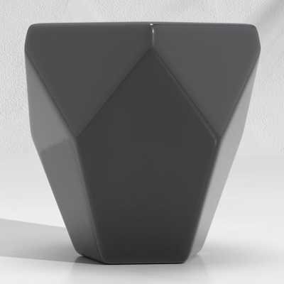 Faceted Black End Table - Crate and Barrel