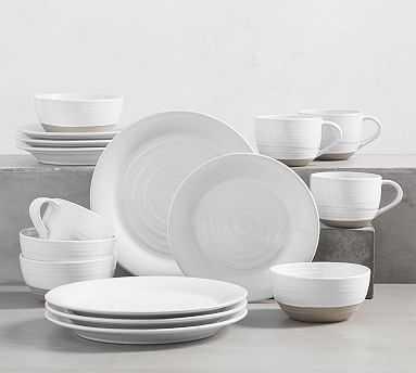 Quinn 16-Piece Dinnerware Set - Pottery Barn