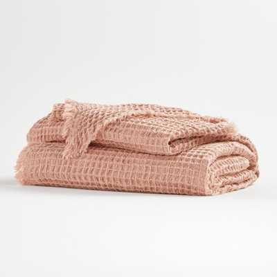 Pink Waffle Throw - Crate and Barrel