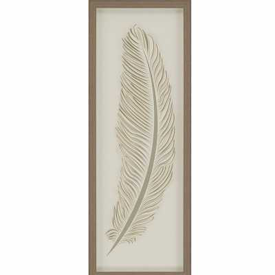 Paragon 'Feather 2' by Malanta Knowle - Shadowbox Graphic Art Print on Paper - Perigold