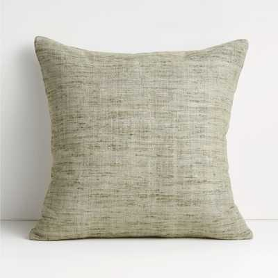 """Trevino 20"""" Light Grey Pillow Cover - Crate and Barrel"""