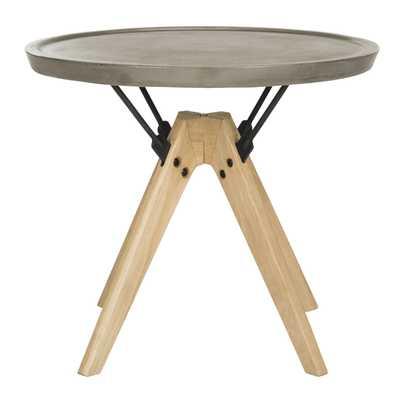 Farmond Indoor/Outdoor Modern Concrete 19.69-Inch H Side Table - Dark Grey - Arlo Home - Arlo Home