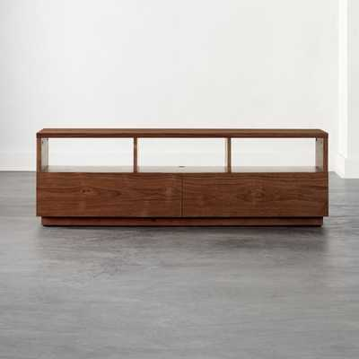 Chill Walnut Wood Media Console - CB2