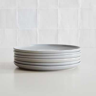 Dinnerware Stoneware, Dinner Plate, Stoneware, Dove Gray, Set of 6 - West Elm