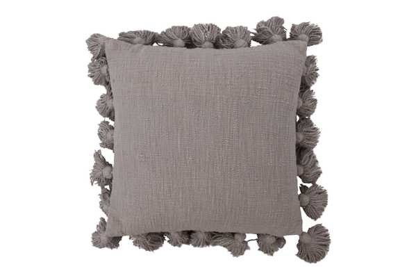 "Neva Pillow 18"" x 18"", Grey  - Cove Goods"
