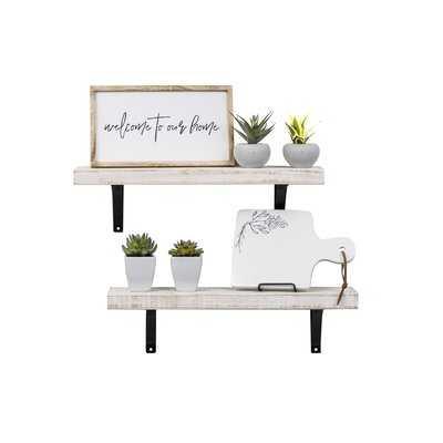 Pinecrest Industrial Grace Simple Bracket 2 Piece Wall Shelf Set - Wayfair