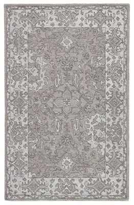 Wintour Handmade Medallion Gray Area Rug (9'X12') - Collective Weavers