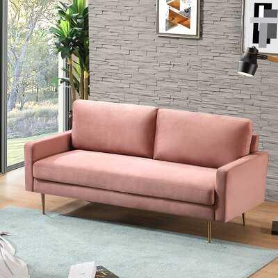 """Christabel Velvet 72.4"""" Square Arm Sofa - Wayfair"""