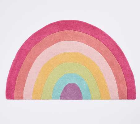Rainbow Shaped Rug, Shaped, Multi - Pottery Barn Kids