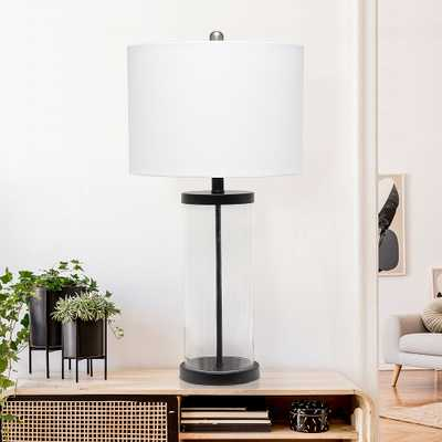 Lalia Home Entrapped Glass and Black Metal Table Lamp - Style # 85R75 - Lamps Plus
