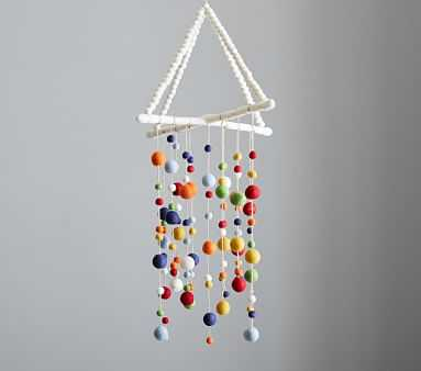 Primary Pom Pom Felted Ceiling Mobile - Pottery Barn Kids