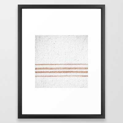 Farmhouse Grain Sack Rust Stripes Framed Art Print by Christina Lynn Williams - Vector Black - MEDIUM (Gallery)-20x26 - Society6