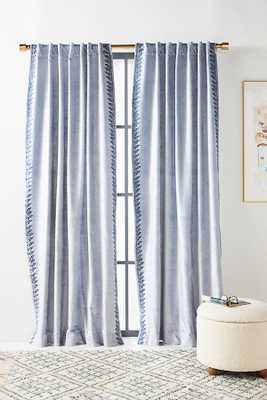 "Tobias Velvet Curtain / 108""x 50"" / Blue - Anthropologie"