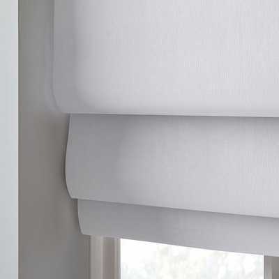 "European Linen Cordless Roman Shade, White, 48""x64"" - West Elm"