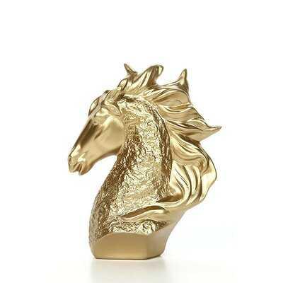 Tabletop Horse Head Gold - Wayfair