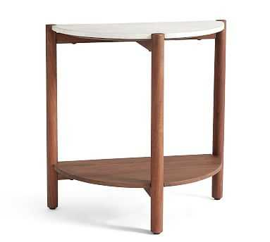 Bloomquist Demilune Marble End Table - Pottery Barn