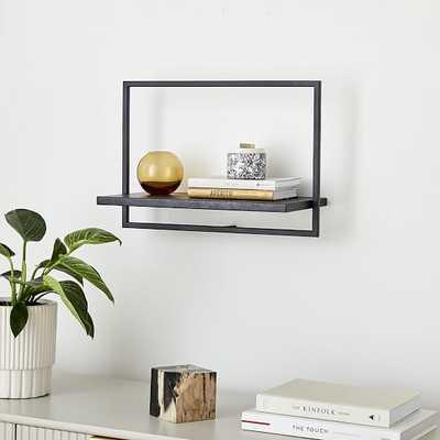 Shelfmate Black & Black C, Short Horizontal Shelf - West Elm