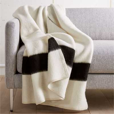 Siempre Recycled Ivory and Black Throw - CB2
