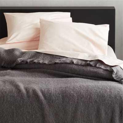 Grey Alpaca/Wool Blanket King - CB2