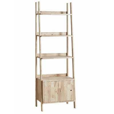 "Joni 70.75"" H x 15"" W Wooden Ladder Shelf - Wayfair"