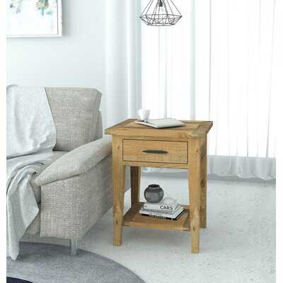 Jered Solid Wood End Table with Storage - Wayfair