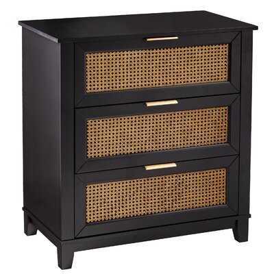 Bay Isle Home Knute Black 3-Drawer Storage Chest - Wayfair
