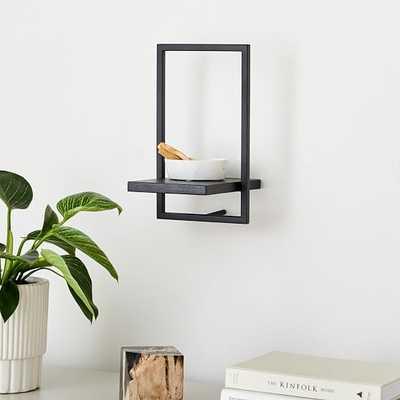 Shelfmate Black & Black E, Short Vertical Wall Shelf - West Elm