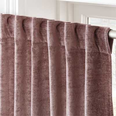 "Cotton Viscose Dusty Blush Curtain Panel 48""x108"" - CB2"