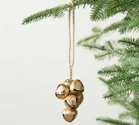 Gold Bell Cluster Ornament, Set of 3 - Pottery Barn